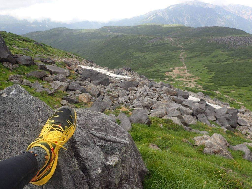 雲ノ平登山で履いたスポルティバのトレランシューズであるミュータント