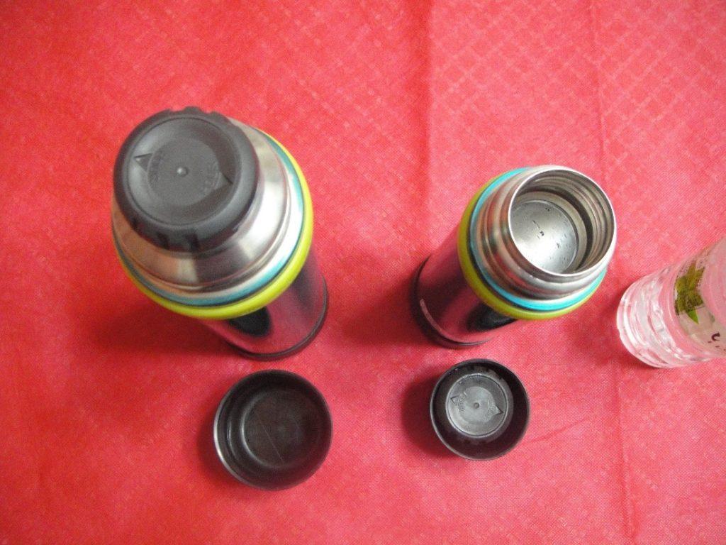 山専ボトルのフタを開けて上から撮影