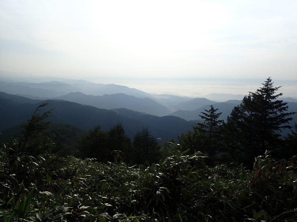 恵那山の広河原ルートからの展望