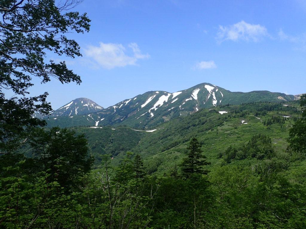 火打山登山道から撮影した火打山と焼山