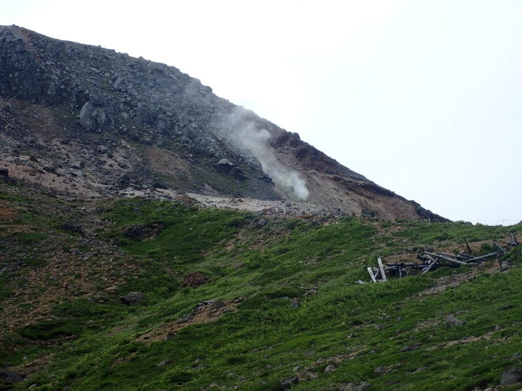 那須岳の茶臼岳の噴気孔