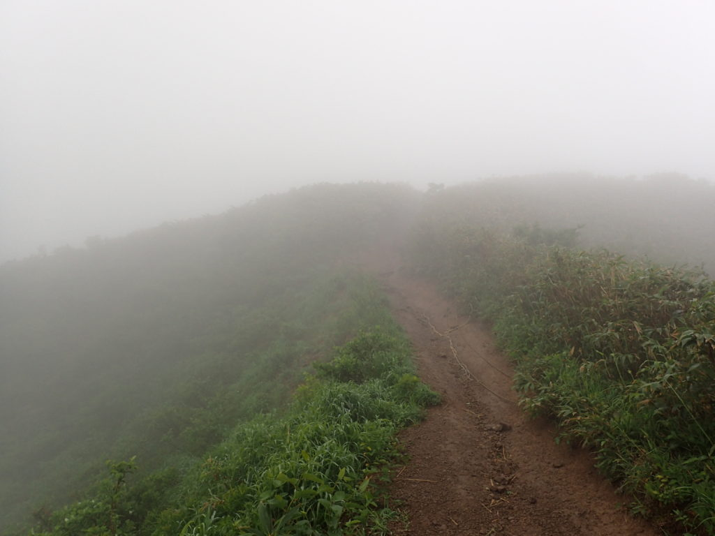 荒島岳山頂に向かう尾根道