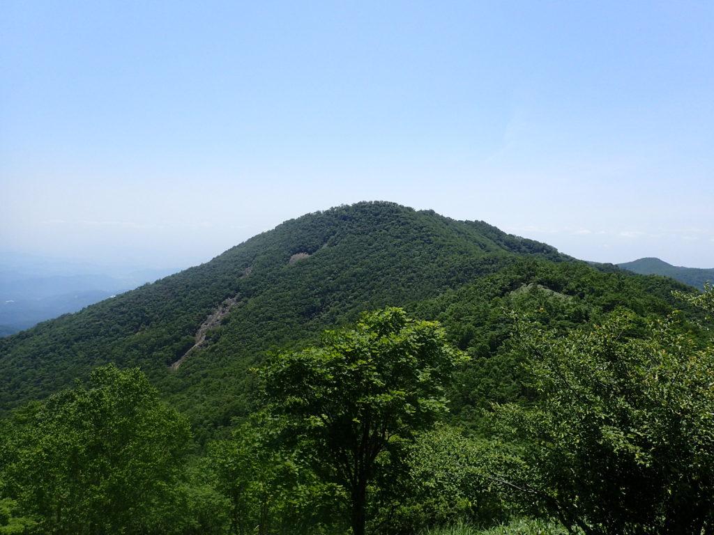 赤城山(黒檜山の山容)