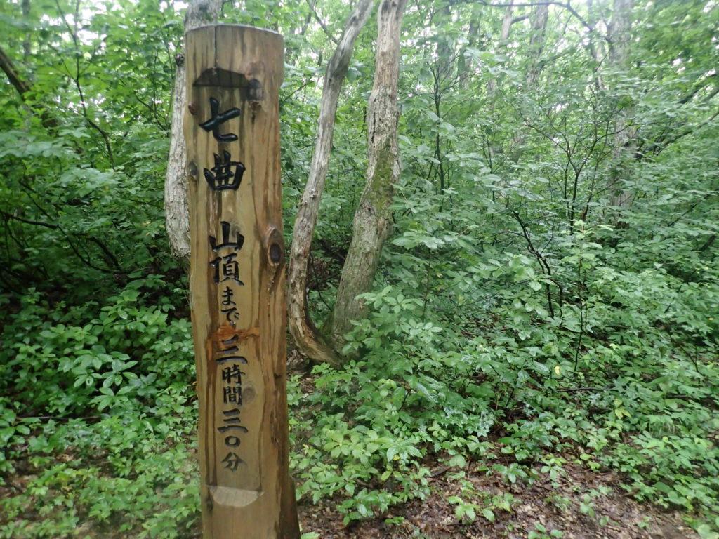 岩木山の七曲の道標