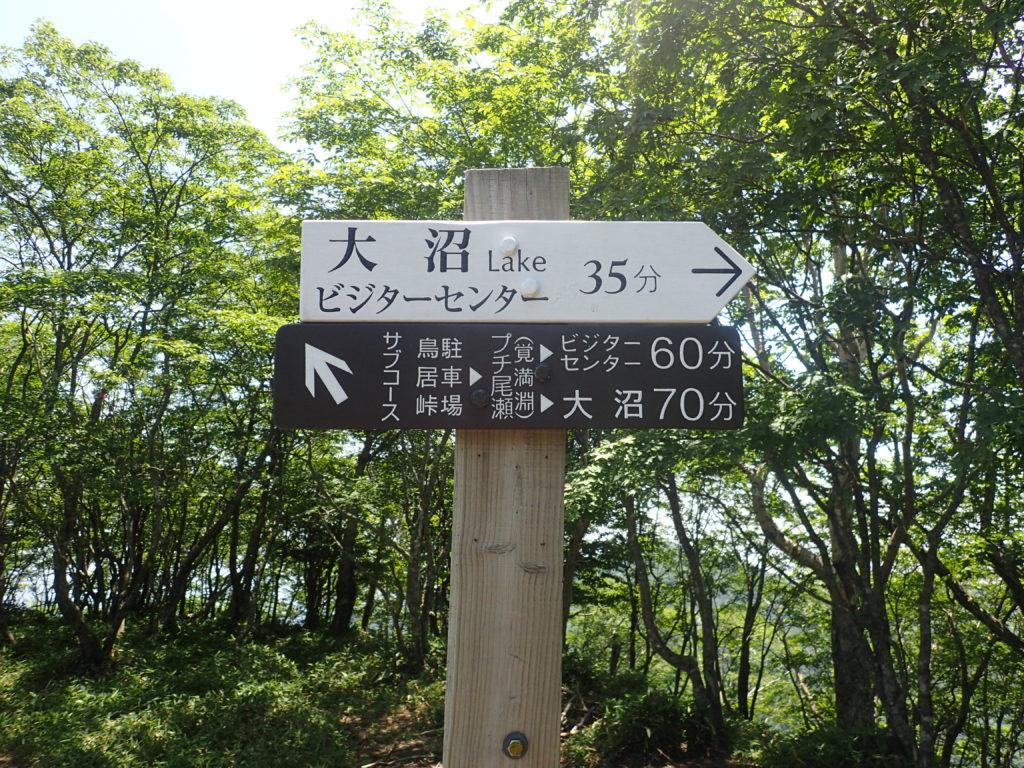赤城山の駒ケ岳から大沼へ向かうルート案内