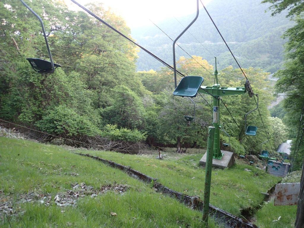 剣山の登山リフト