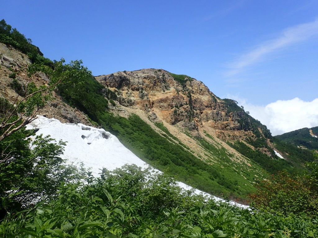 火打山登山道から見る鬼ヶ城