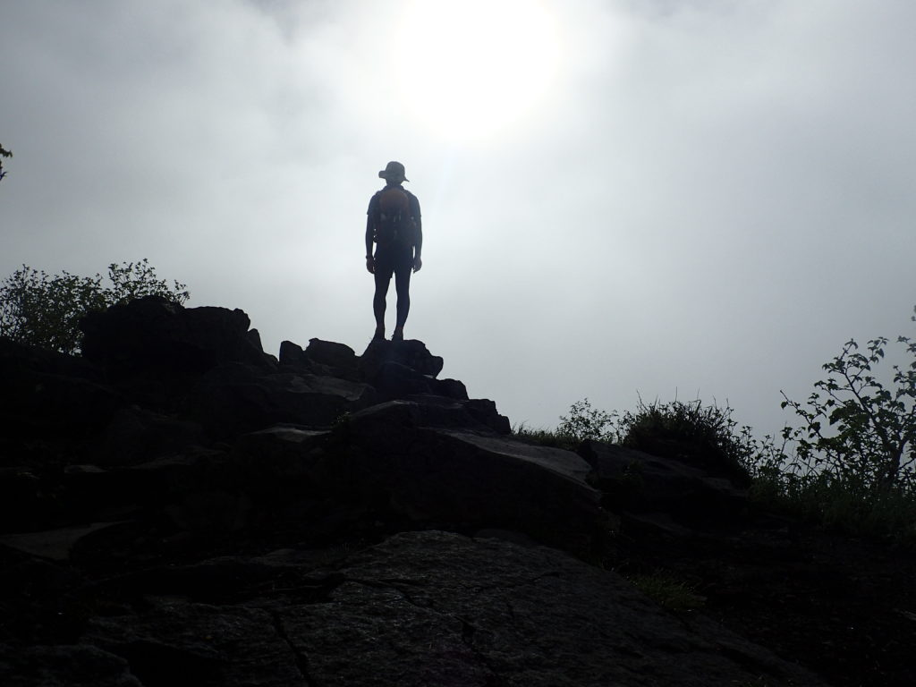 四阿山山頂で記念撮影