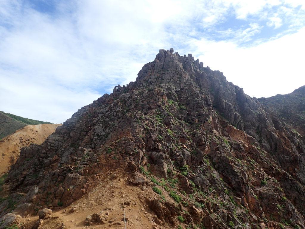 那須岳の朝日岳の岩稜部分