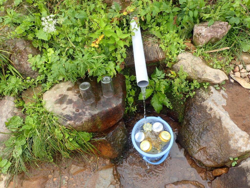磐梯山の弘法清水の水場