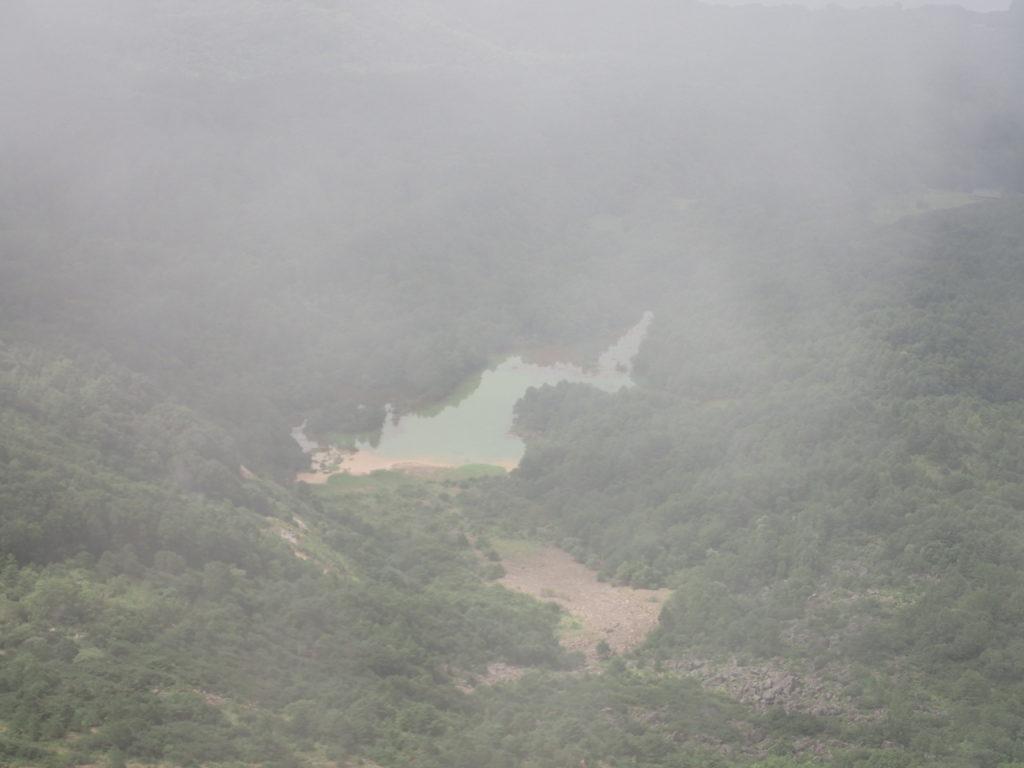 磐梯山から見る雄国沼