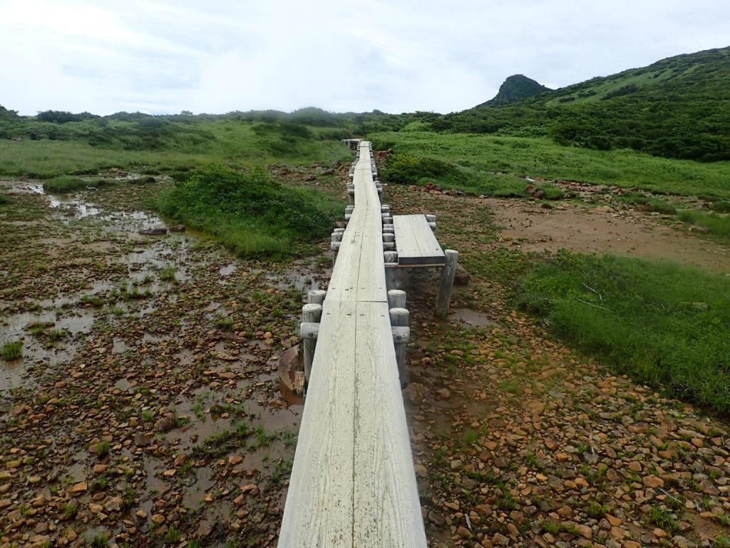 那須岳の清水平の木道