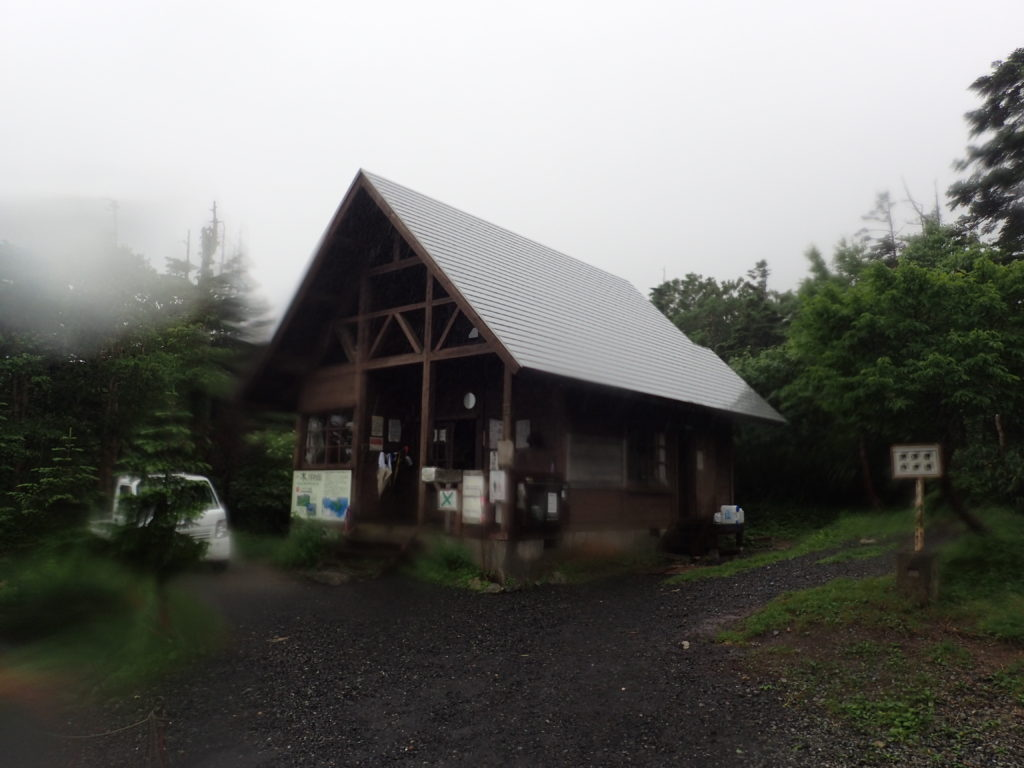 早池峰山の鉱山植物監視員詰所
