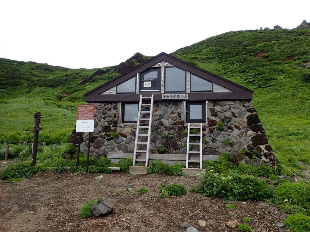 岩手山の不動平避難小屋