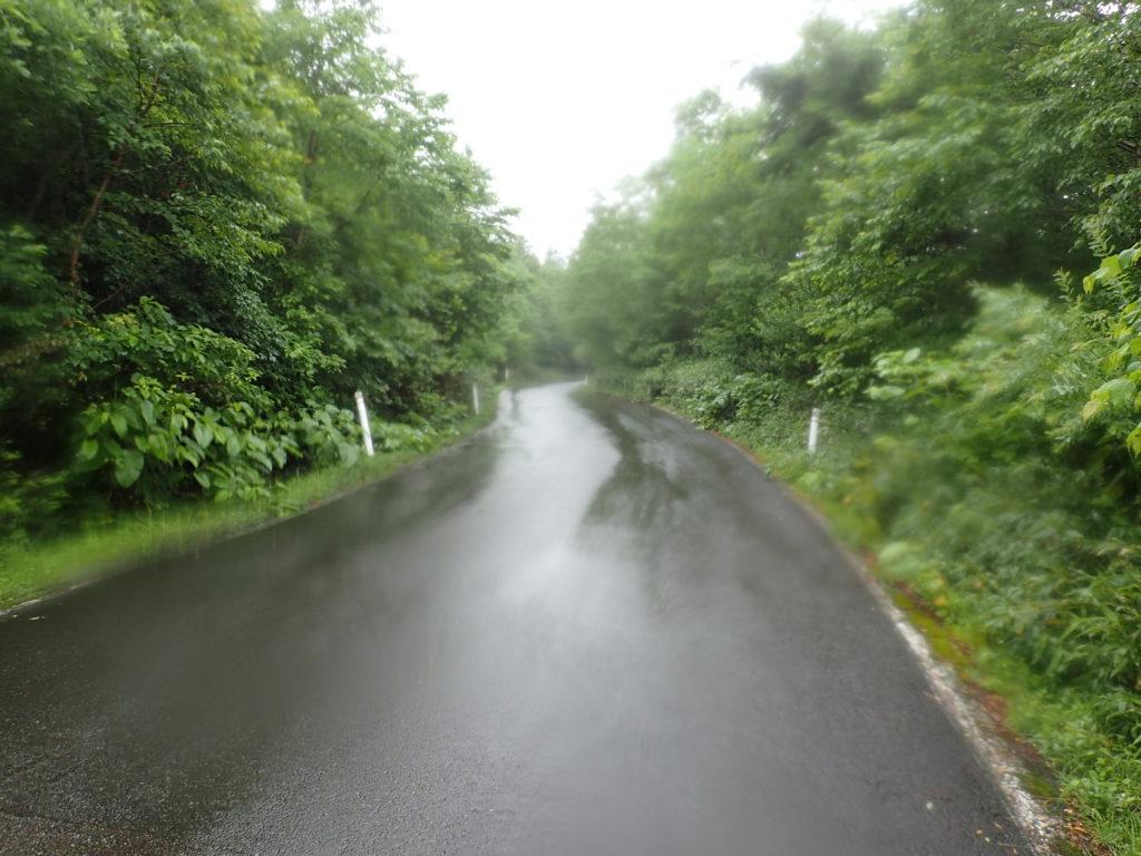 早池峰山の河原の坊登山口から小田越登山口まで続くアスファルト道
