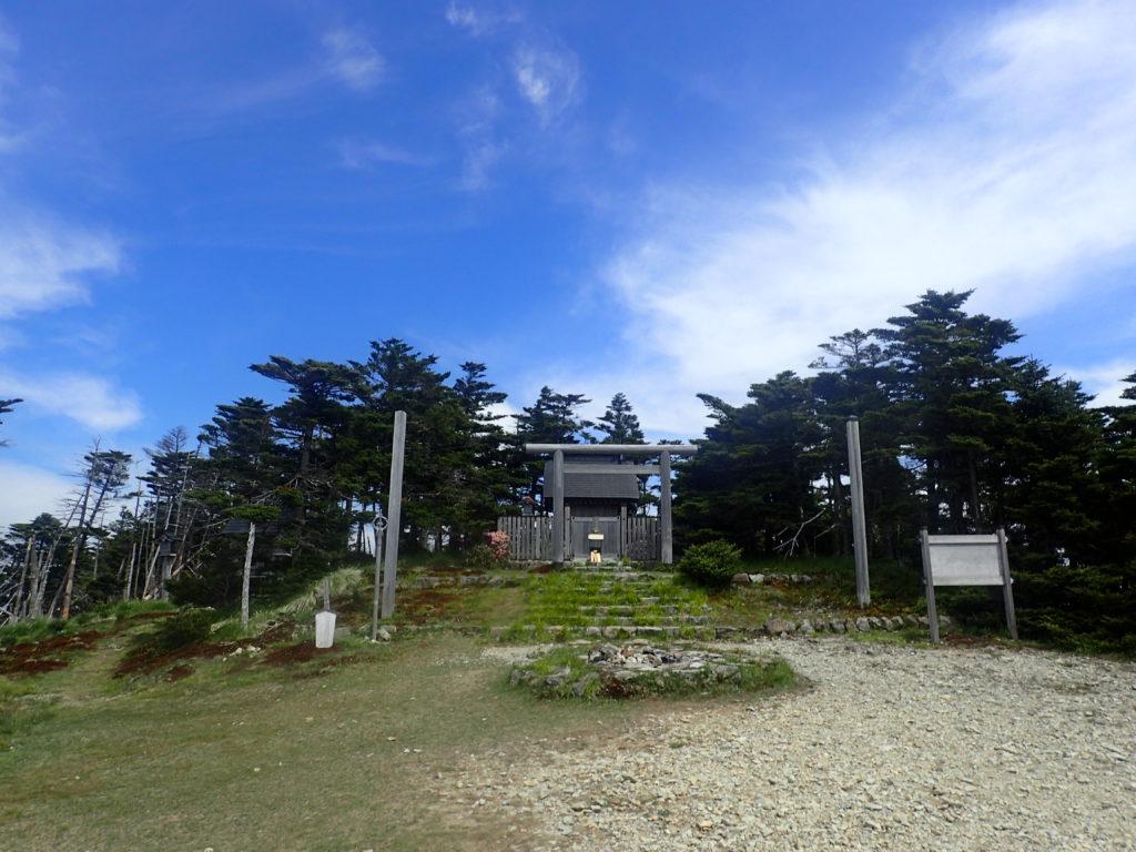 大峰山の弥山神社