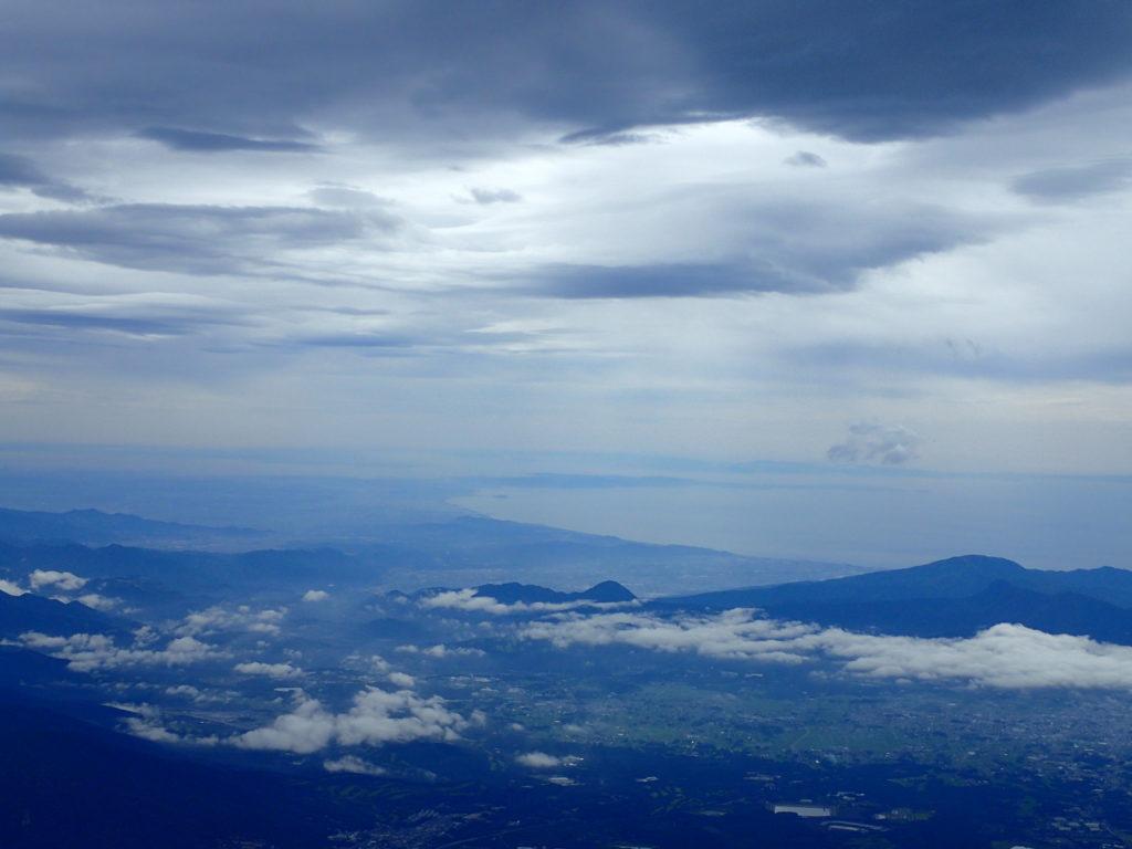 富士山からみる関東方面の海岸