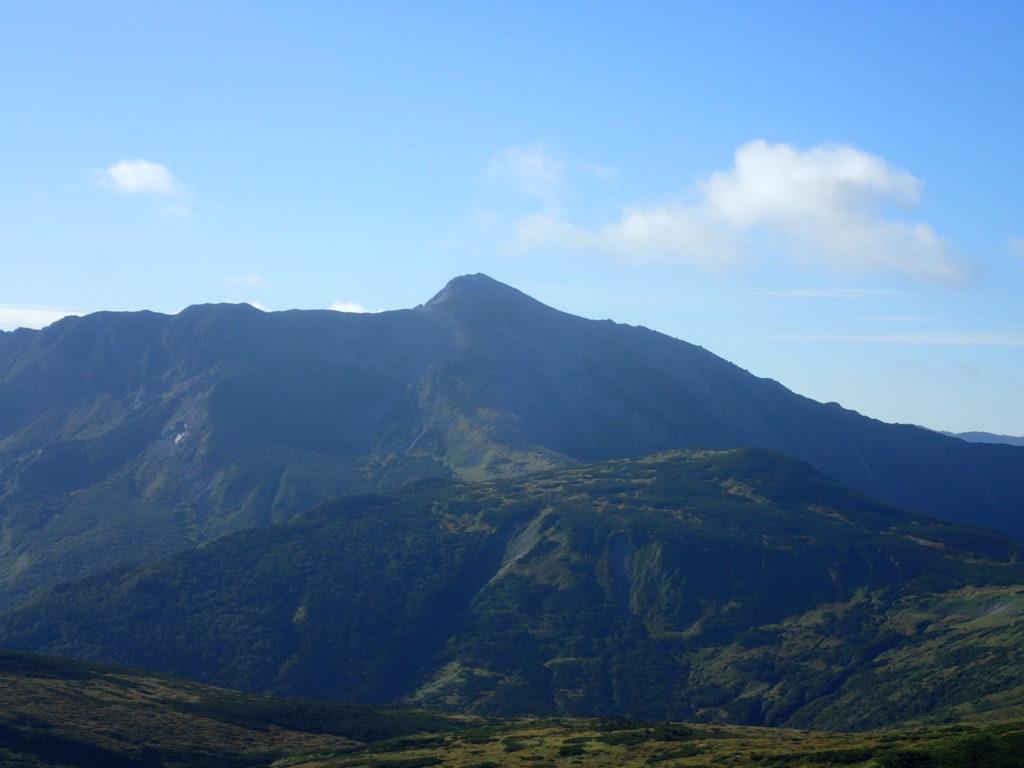 太郎平方向から見る黒部五郎岳