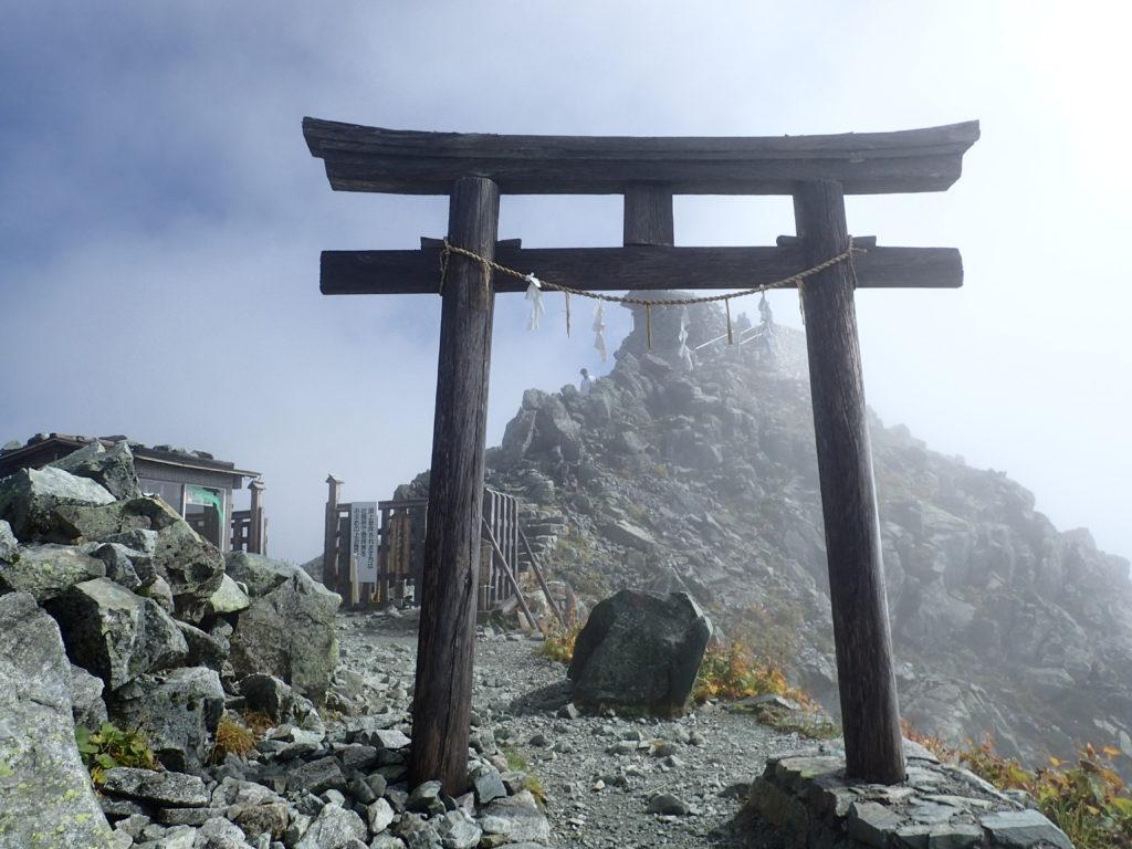 立山雄山神社本宮の鳥居