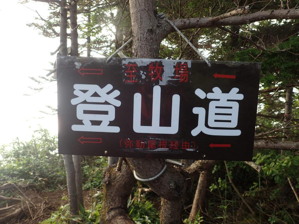 戸隠連峰の弥勒新道入口