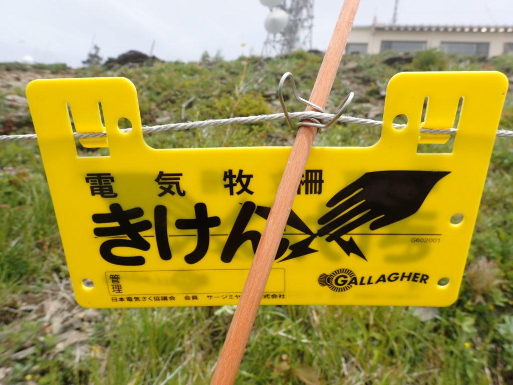 美ヶ原高原の電気牧柵