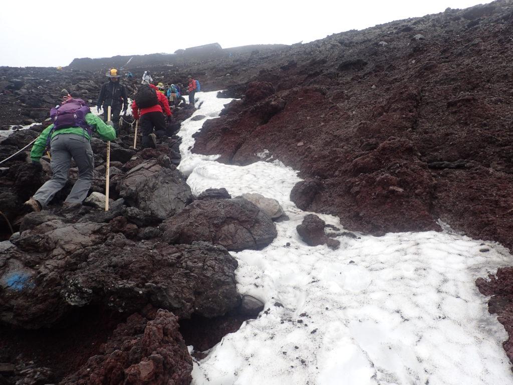 富士山の吉田ルート登山道