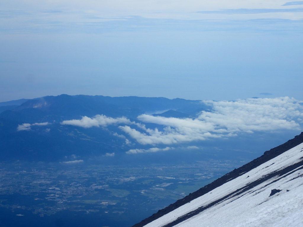 富士山から見る芦ノ湖と箱根