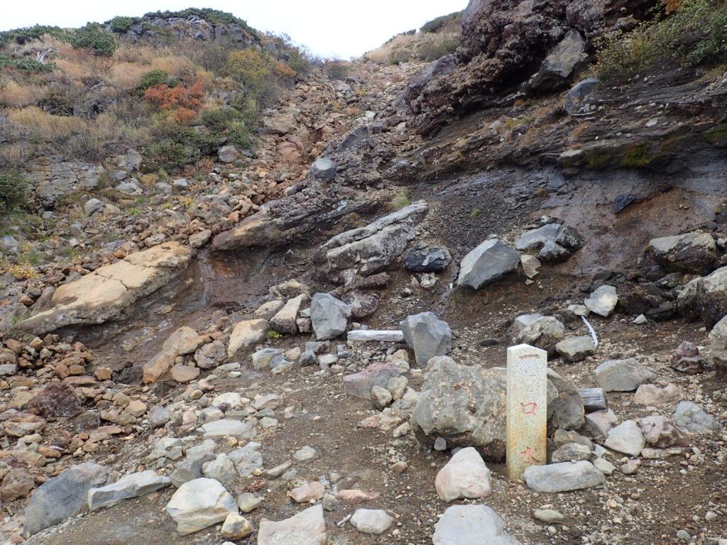 御嶽山の王滝ルートの一口水