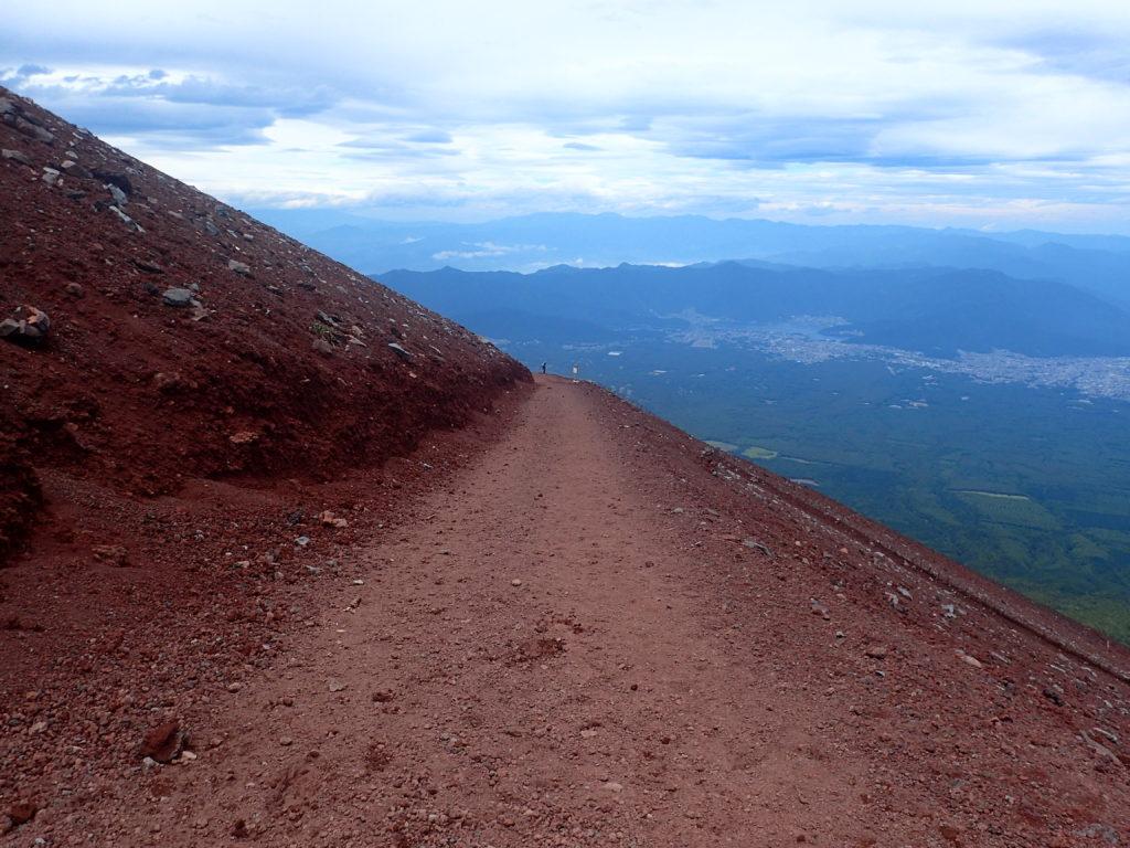 富士山吉田口ルートの下山道