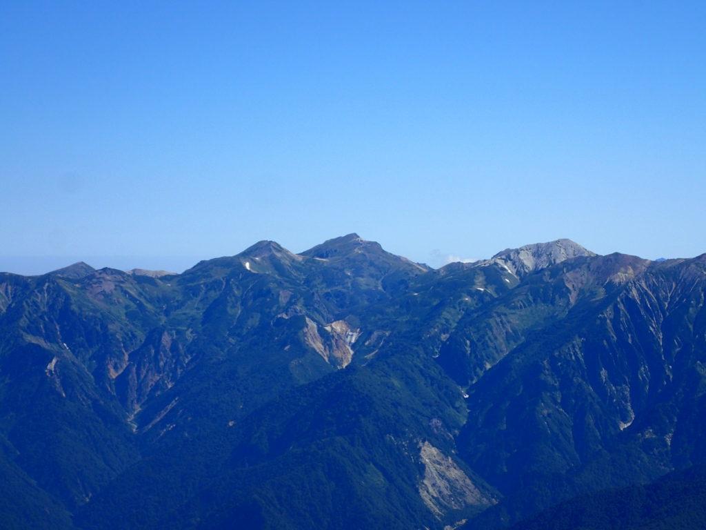剱岳山頂から見る白馬岳