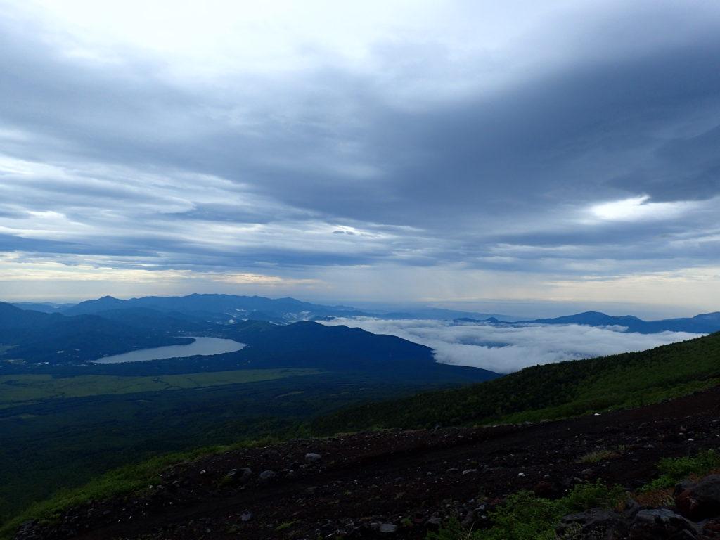 富士山から見る山中湖
