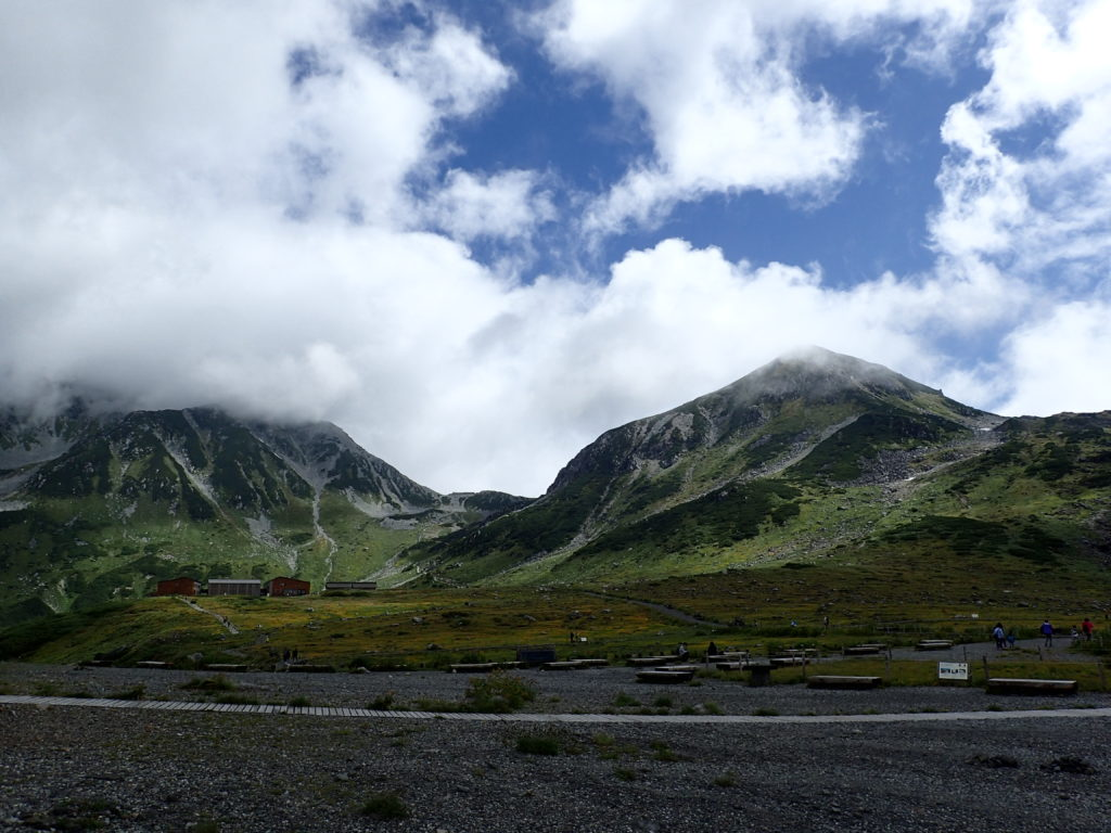 室堂から見る立山と浄土山