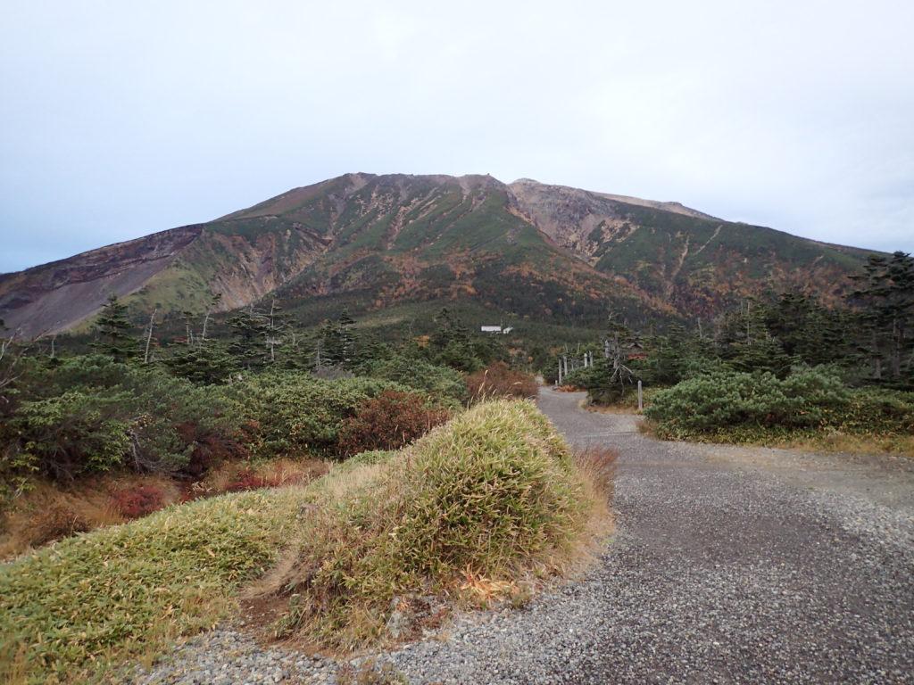 王滝ルートから見上げる御嶽山