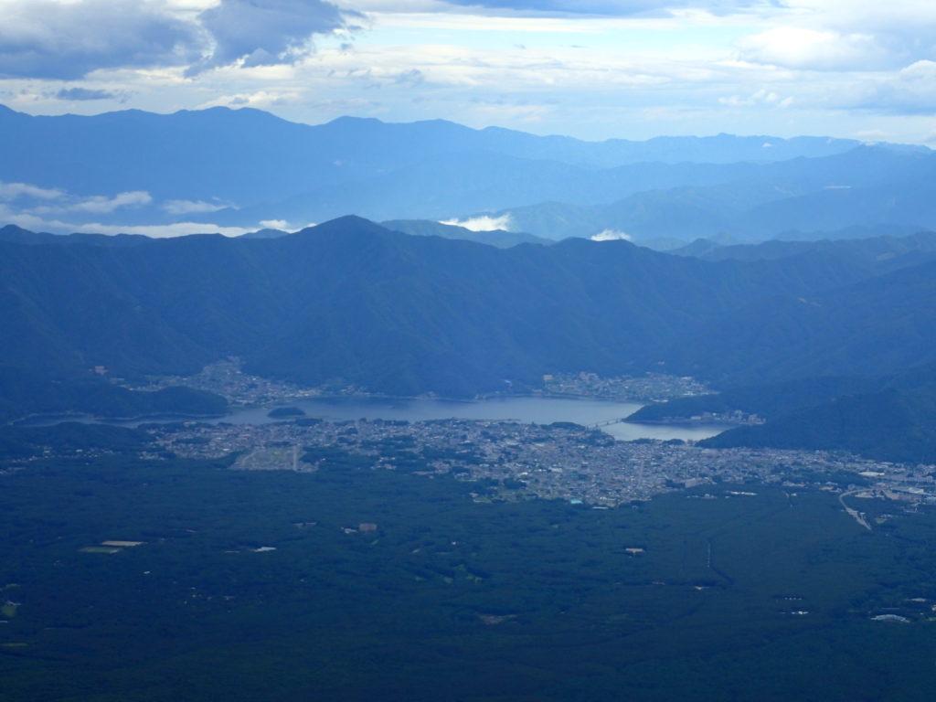 富士山から見る河口湖