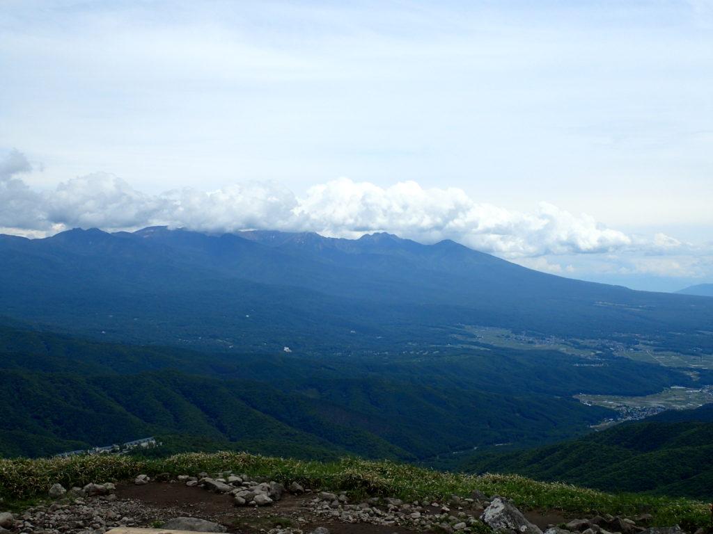 霧ケ峰の車山から見た八ヶ岳