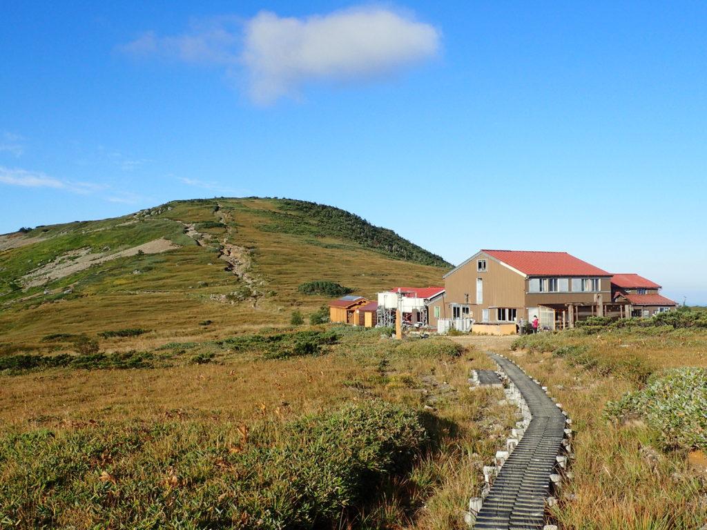 太郎平小屋と太郎山