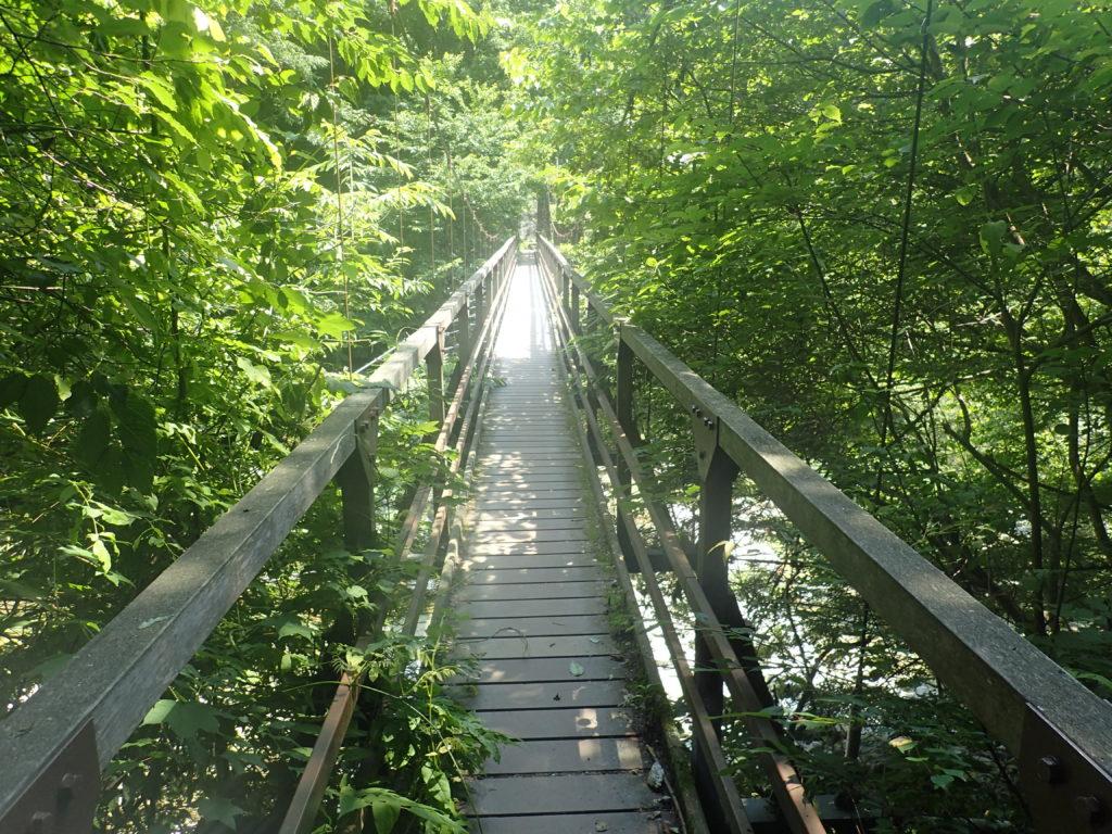 甲斐駒ヶ岳黒戸尾根ルートのつり橋