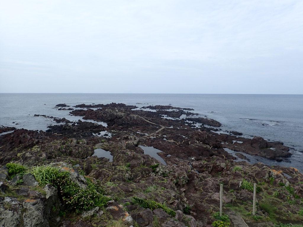 薩摩半島の最南端である長崎鼻