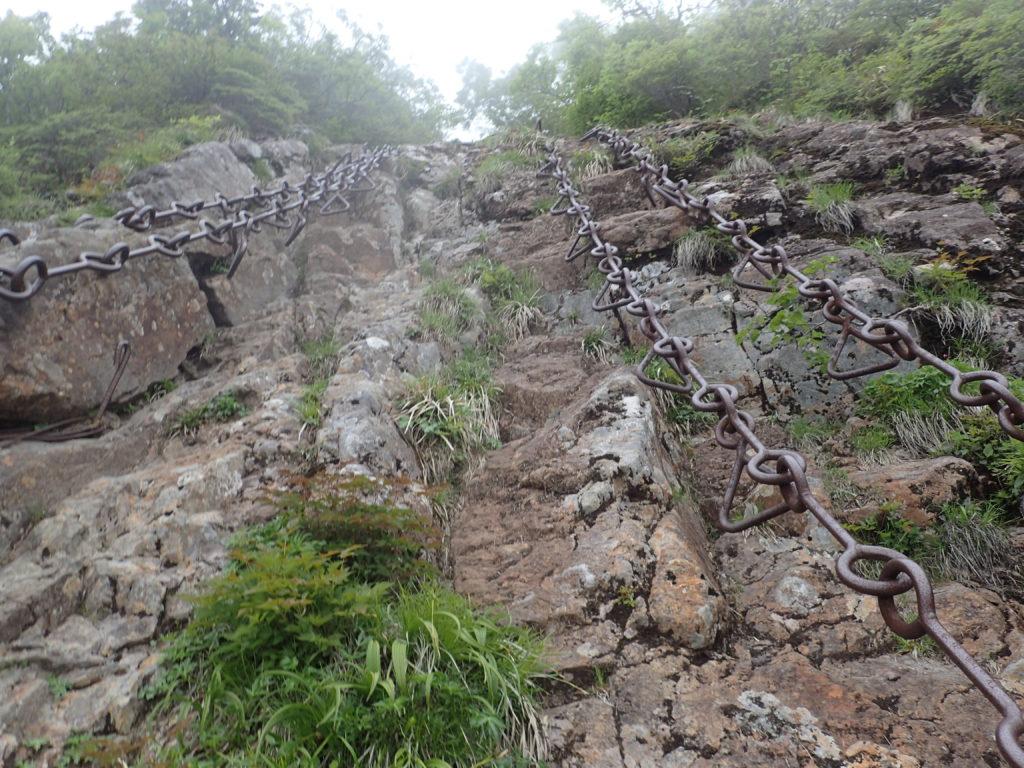 石鎚山の鎖