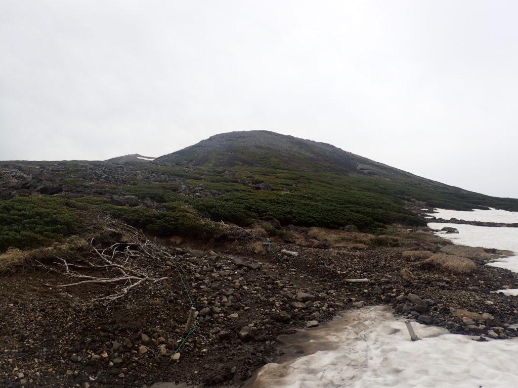 乗鞍岳の朝日岳の山容