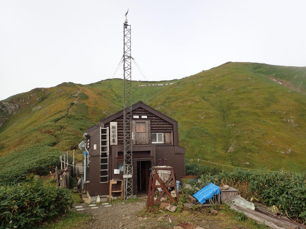 越後駒ヶ岳の駒の小屋
