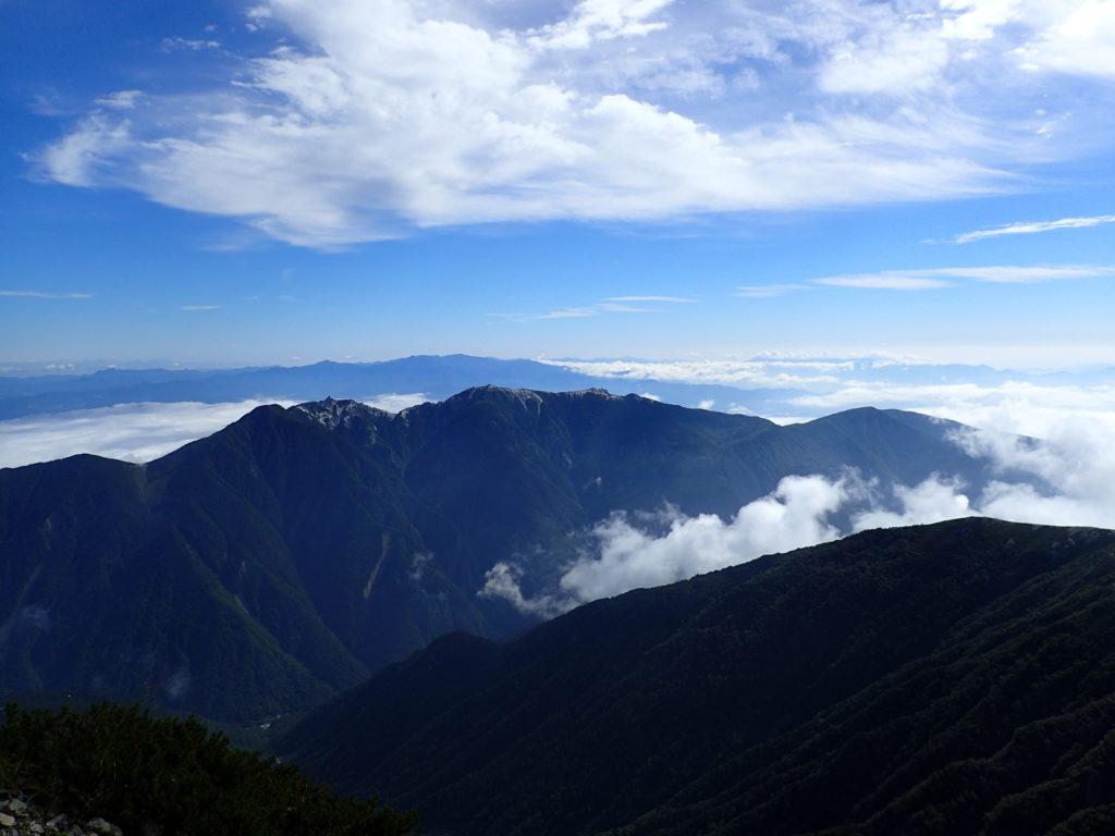 北岳から見た鳳凰三山