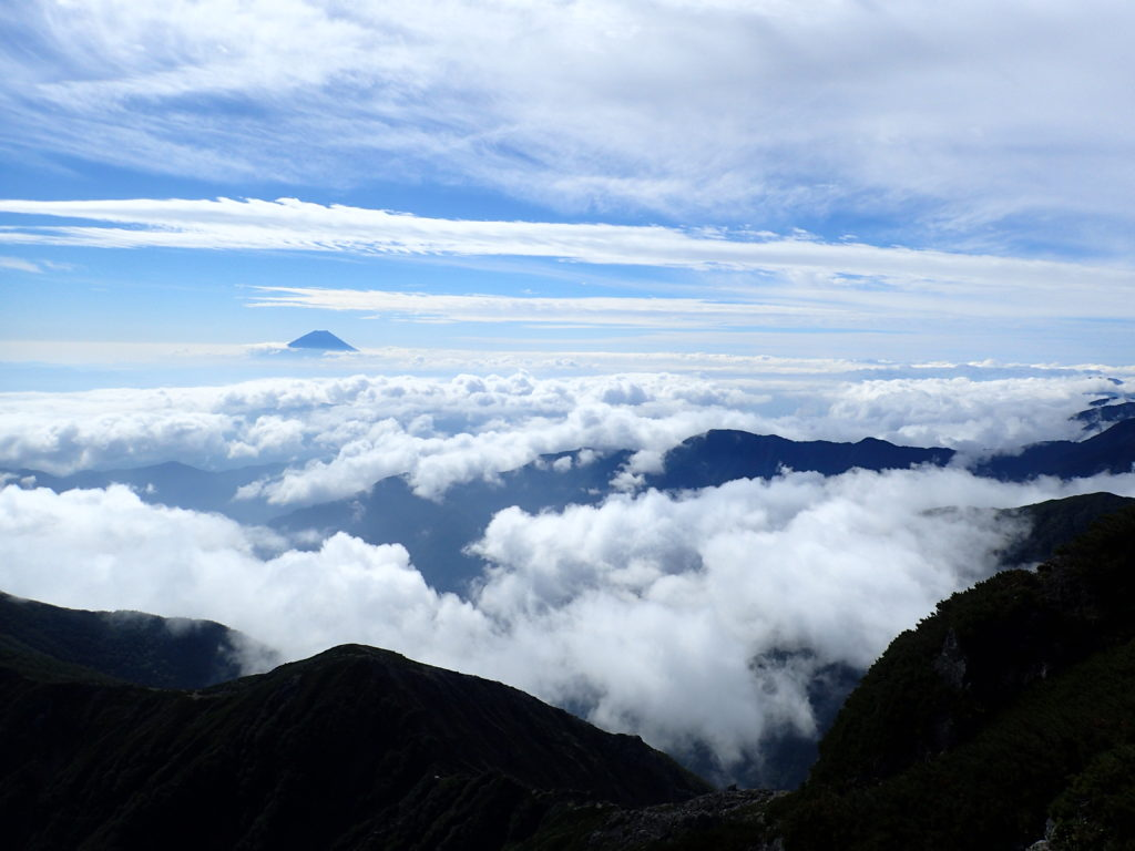北岳から見た富士山