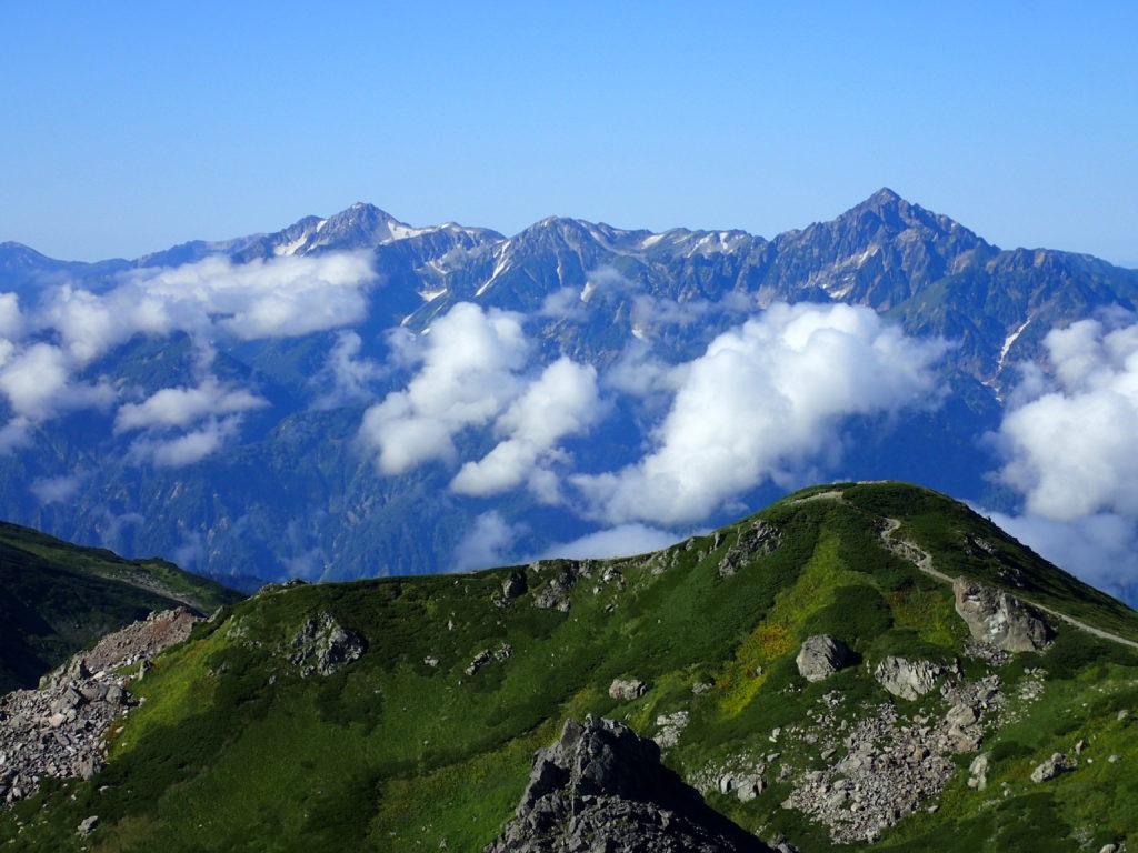 白馬岳から眺める剱岳