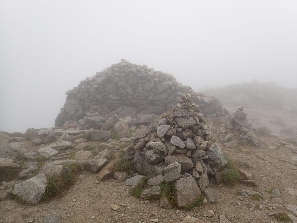 木曽駒ヶ岳山頂のケルン