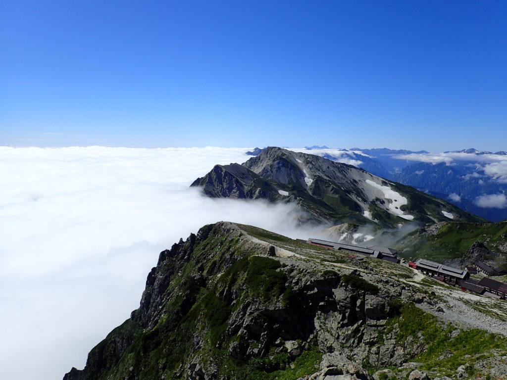 白馬岳山頂から見おろす雲海