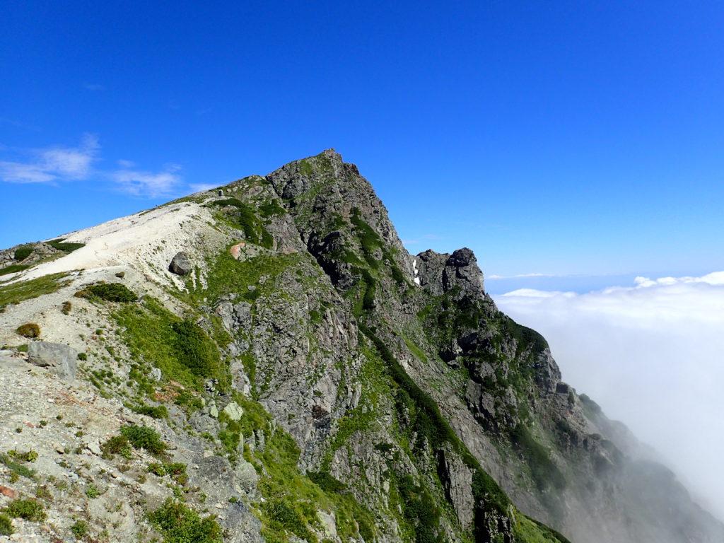 白馬岳山頂の山容