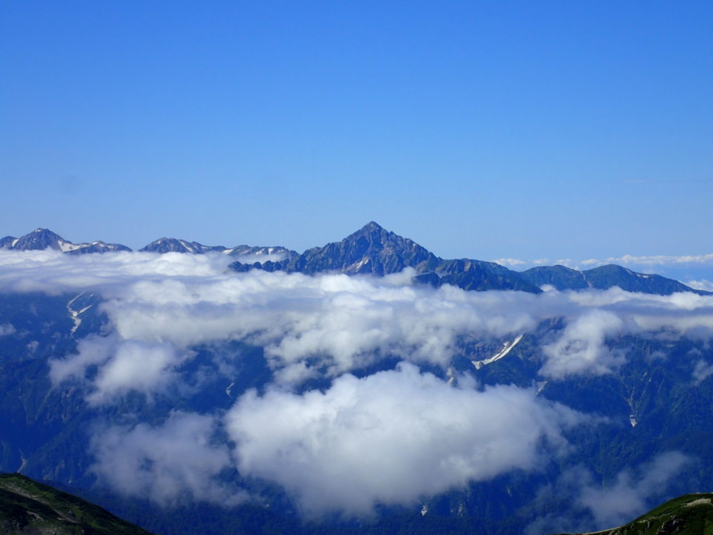 白馬岳から見る剱岳