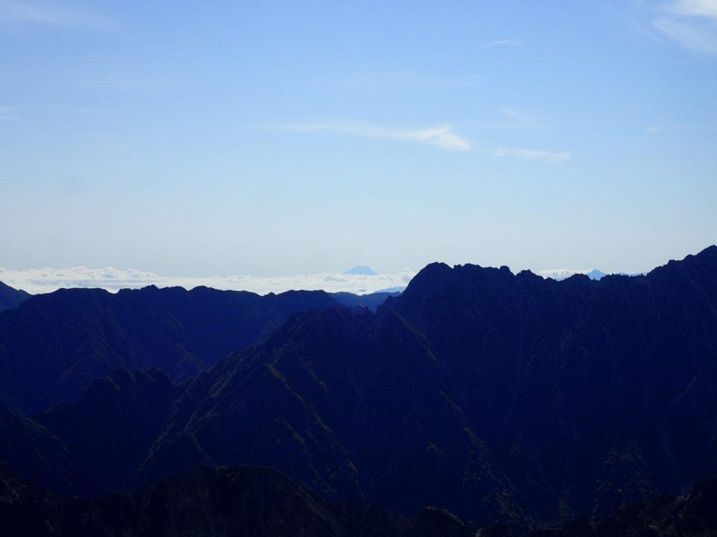 鷲羽岳から見る富士山