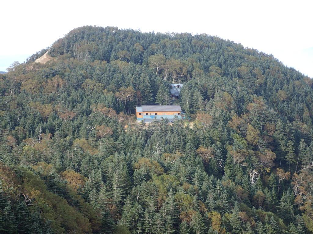 三伏山から見る三伏小屋